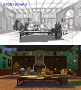 The Backyardigans Follow the Feather Storyboard-Previsualization Comparison 1