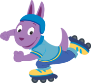 The Backyardigans Sport-Tacular Austin on Rollerblades