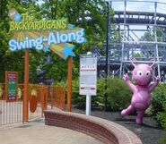 The Backyardigans Swing-Along at Kings Island Uniqua Statue