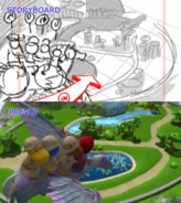 The Backyardigans Follow the Feather Storyboard-Previsualization Comparison 5