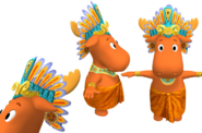 The Backyardigans Mayan King Tyrone Model Sheet