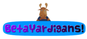 Betayardigans! Logo with 8-Bit Reginald Rone