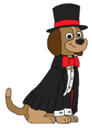 Sparky - Bowtie, Top Hat, Tuxedo, and Cape