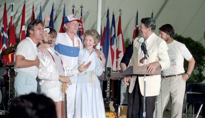 Reagans with the Beach Boys