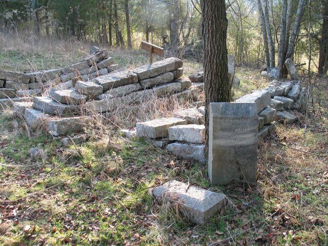 File:Flat Creek Cemetery, J. J. Hurst stone.JPG