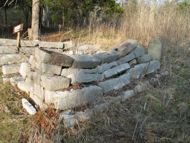 File:Flat Creek Cemetery, Elizabeth Beard Hurst Gravesite.JPG