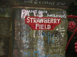 Straberry field sign