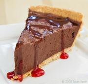Cherry-chocolate-mousse-pie