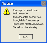 Barvelyn is here to stay