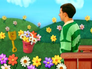 Blue's Clues Pail and Shovel with Flowers
