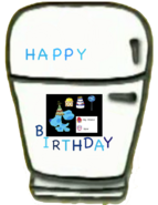 Refrigerator from Blue's Clues Blue's Birthday