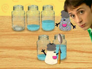 Blue's Clues Mr. Salt and Mrs. Pepper with Jars of Water