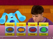 Joe and Blue with 4 kinds of pet foods