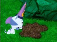 Periwinkle turning dirt into mud