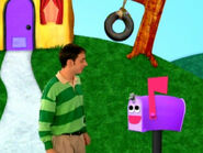 Blue's Clues Mailbox Talking to Steve