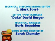 Blue's Clues Sidetable Drawer Credits