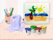 Blue's Clues Slippery Soap Painting