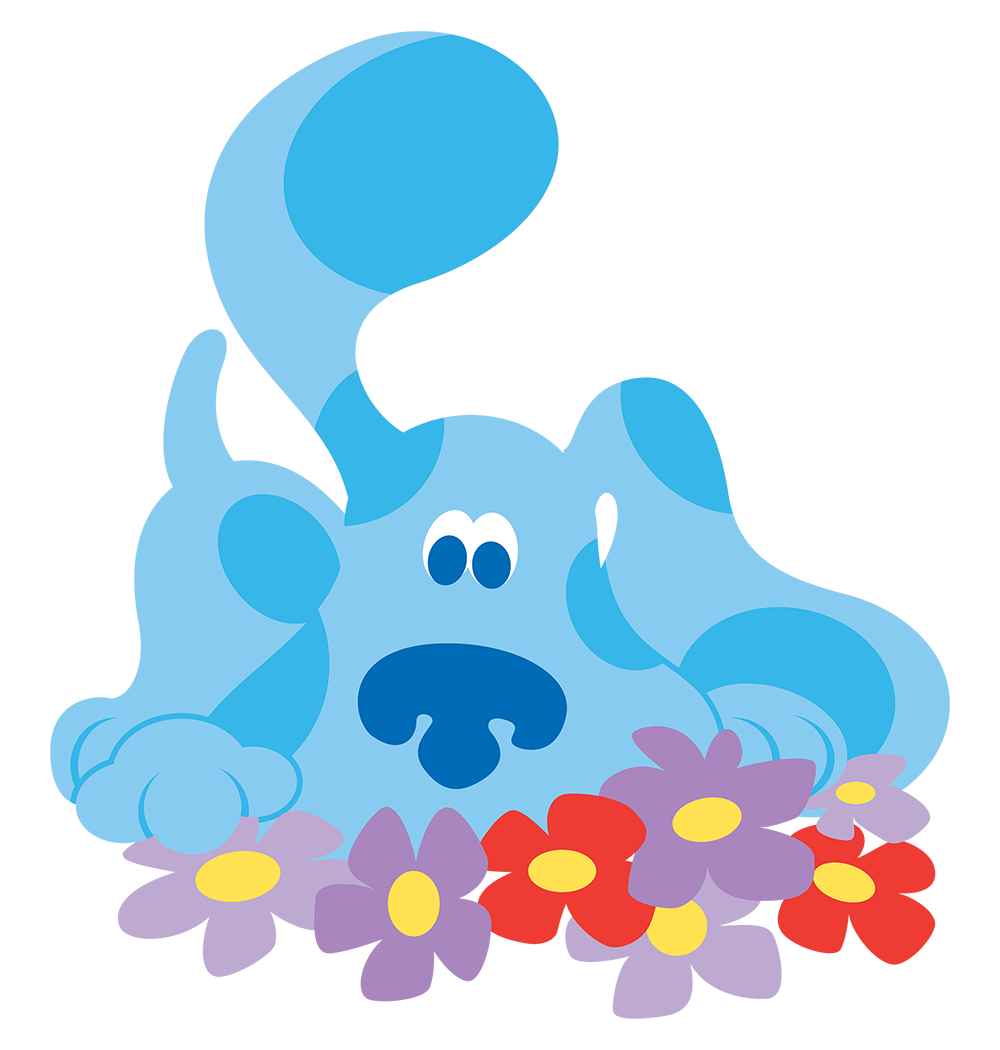 image blue u0027s clues blue with flowers png blue u0027s clues wiki