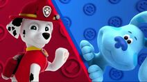 Marshall from paw patrol and blue from blue s clues and you