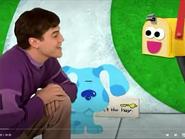 Joe and Blue with Magenta's Mailbox needing a key