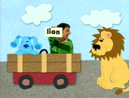 Blue, Steve and a Lion