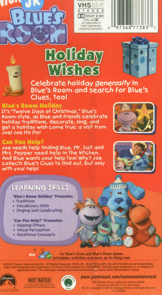 Holiday Wishes (VHS) | Blue's Clues Wiki | FANDOM powered ...