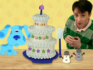 Blue's Clues Mr. Salt and Mrs. Pepper Cake