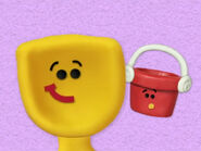 Blue's Clues Shovel and Pail as Babies