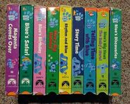 LOT-OF-9-BLUES-CLUES-VHS-Story-Time