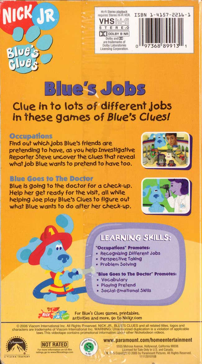 Blue's Jobs | Blue's Clues Wiki | FANDOM powered by Wikia
