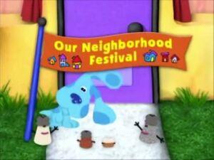 Our neighborhood festival title card