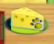 Pawprint hole on cheese