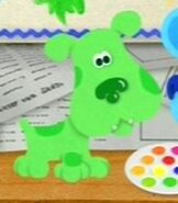 blues clues green puppy plush. Char 35846 Blues Clues Green Puppy Plush