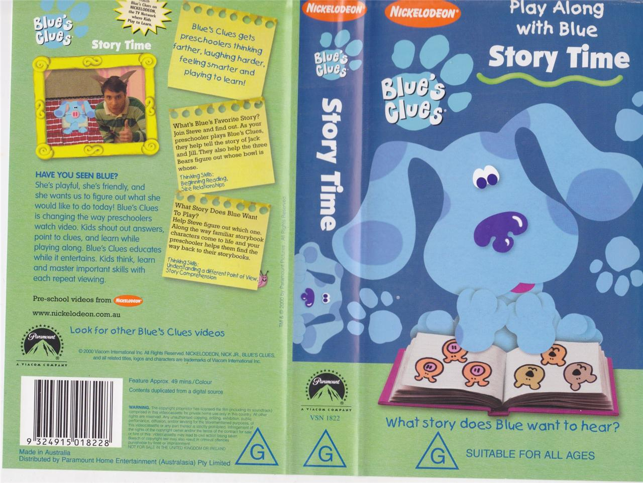 Story Time Blue S Clues Wiki Fandom