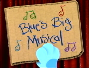 Blue's big musical title card