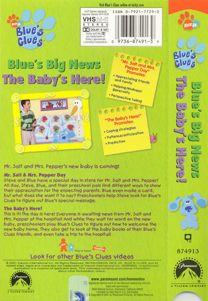 Blue S Room Fred S Birthday Vhs