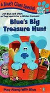 Blue's Clues, Blue's Big Treasure Hunt (VHS, 1999) (Artwork