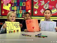 3 kids in the video letter