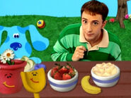 Blue's Clues Shovel and Pail at the Picnic Table