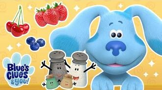 Healthy Snacks Song & Game w Josh and Blue! Play Along Blue's Clues & You!
