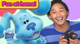 Josh & Blue Playdate 5 Show & Tell & Sock Puppets! Home Activities for Kids Blue's Clues & You!