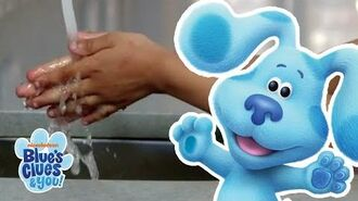 How to Wash Your Hands with Josh and Blue! Stay Home WithMe Blue's Clues & You!