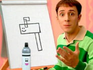 Blue's Clues Mailbox Geometric Drawing