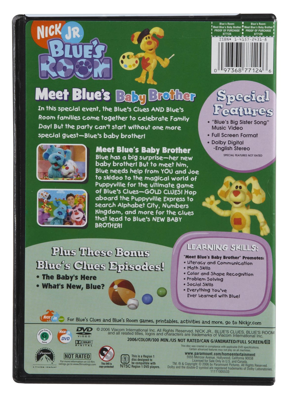 Meet Blue S Baby Brother Dvd Blue S Clues Wiki