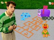 Blue's Clues Mailbox Hopscotch