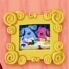 Blue and Magenta in Picture Frame