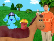 Blue's Clues Pail and Blue Riding a Horse