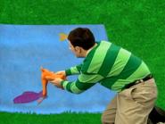 Steve making Horace swim in the ocean