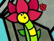 Inchworm Notices a Ladybug