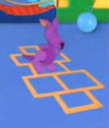 Purple kangaroo hopscotch